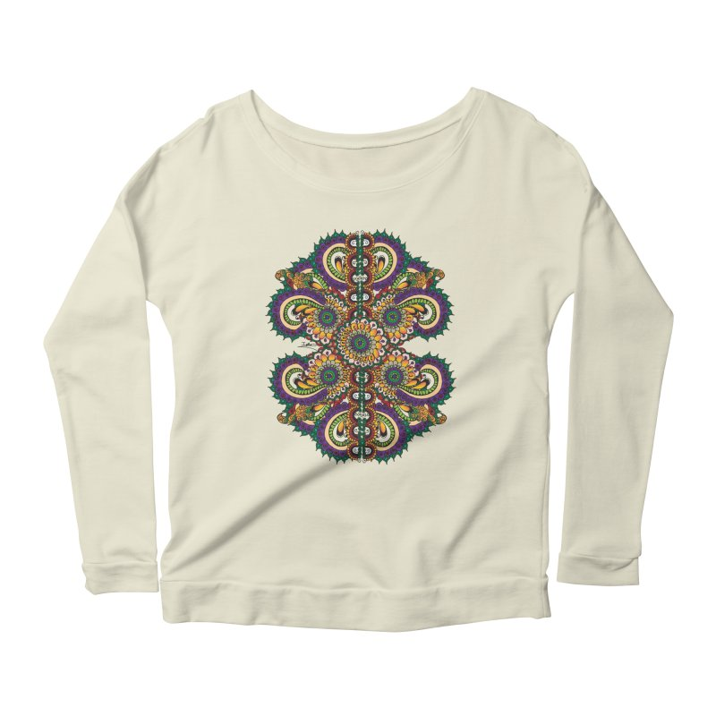 Chakras On LSD Women's Longsleeve Scoopneck  by Iythar's Artist Shop