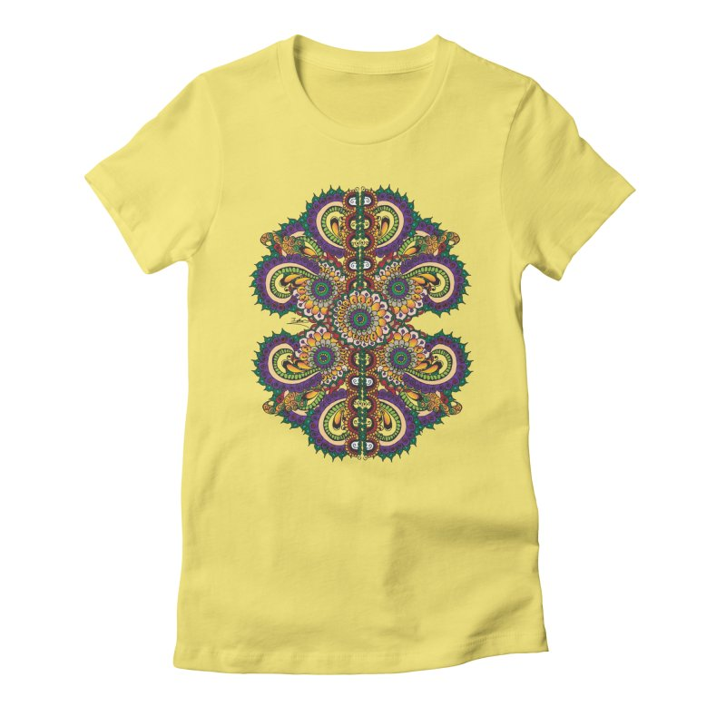 Chakras On LSD Women's Fitted T-Shirt by Iythar's Artist Shop
