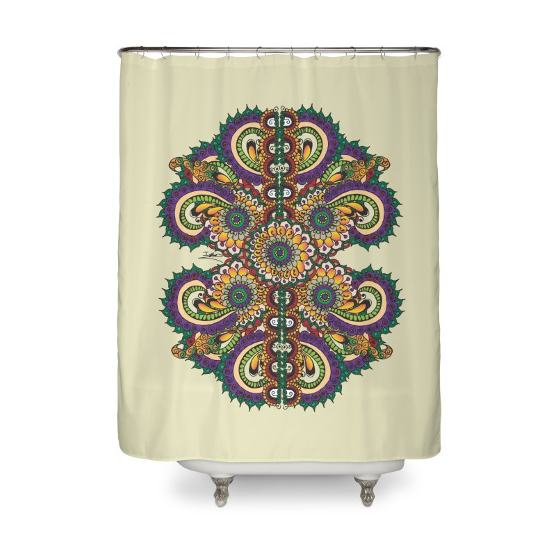 Chakras On LSD Home Shower Curtain by Iythar's Artist Shop
