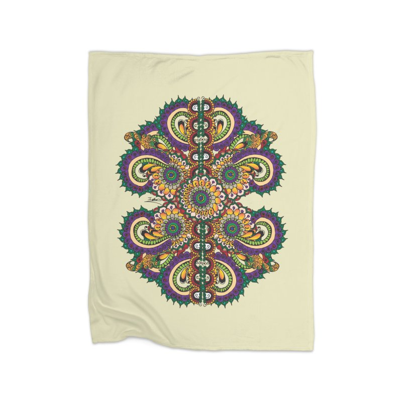 Chakras On LSD Home Fleece Blanket Blanket by Iythar's Artist Shop