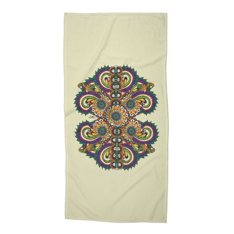 Chakras On LSD Accessories Beach Towel by Iythar's Artist Shop