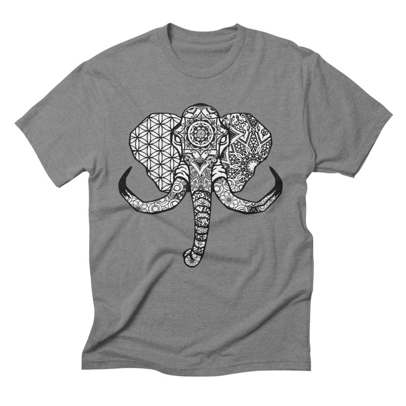 Elephant in Men's Triblend T-Shirt Grey Triblend by Izfromearth's Artist Shop