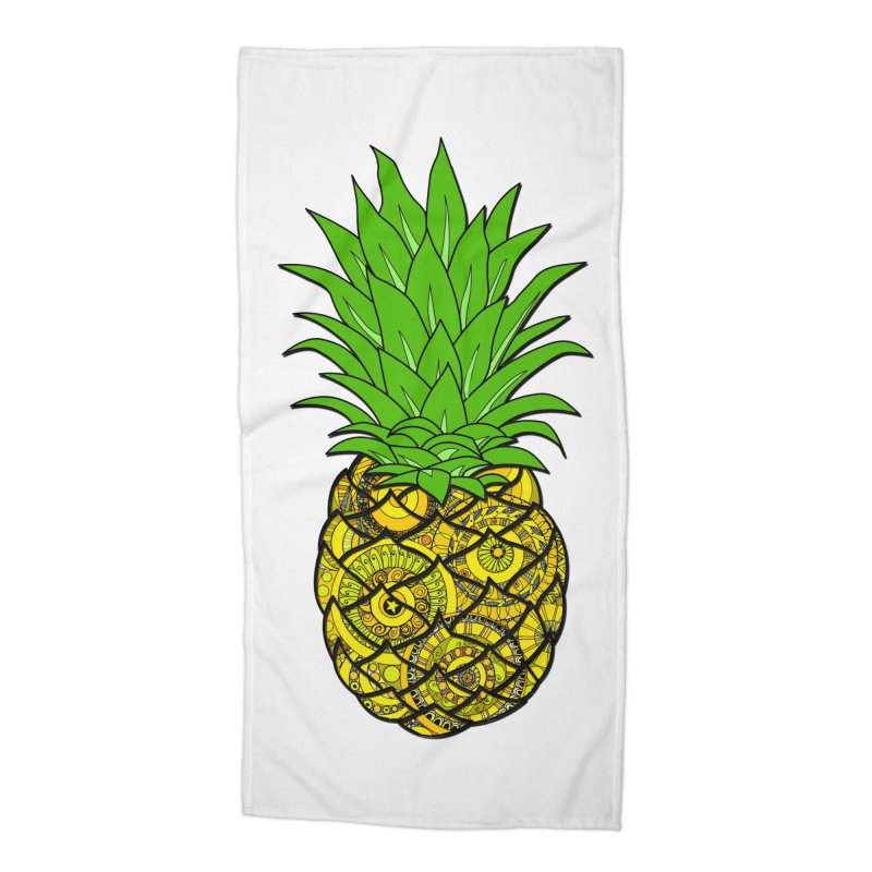 Ananamania! in Beach Towel by Izfromearth's Artist Shop