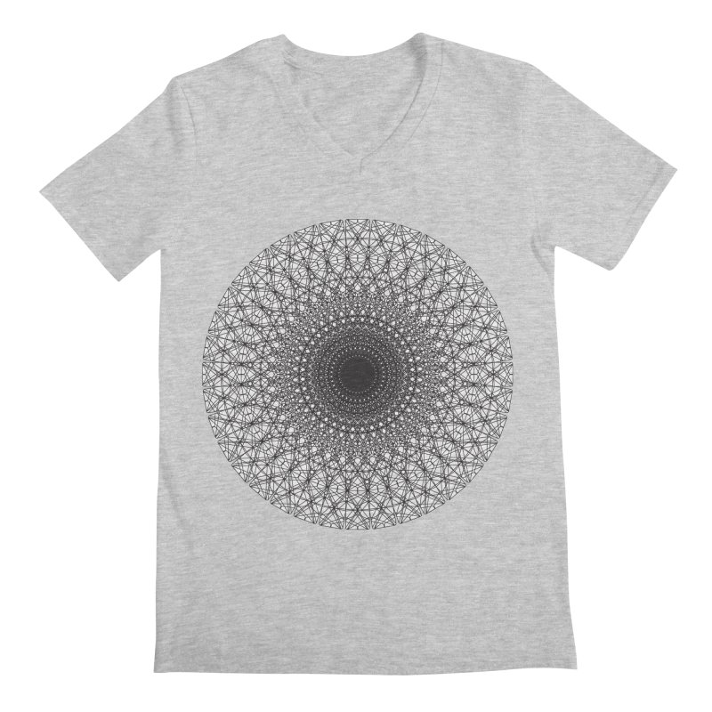Mandala electric in Men's Regular V-Neck Heather Grey by Izfromearth's Artist Shop