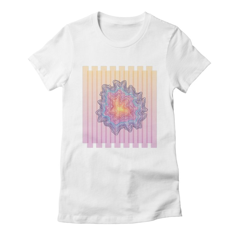 Summer beat Women's Fitted T-Shirt by J4ck0's Artist Shop