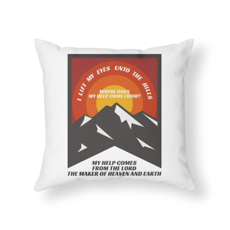 I Lift My Eyes Home Throw Pillow by JARED CRAFT's Artist Shop