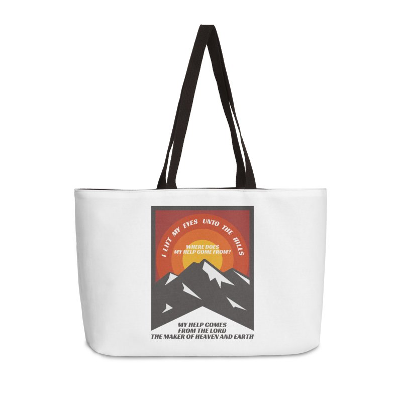 I Lift My Eyes Accessories Bag by JARED CRAFT's Artist Shop