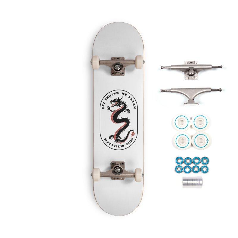Get Behind Me Satan Accessories Skateboard by JARED CRAFT's Artist Shop