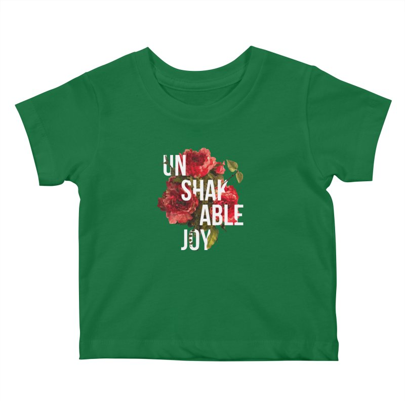 Unshakable Joy Kids Baby T-Shirt by JARED CRAFT's Artist Shop