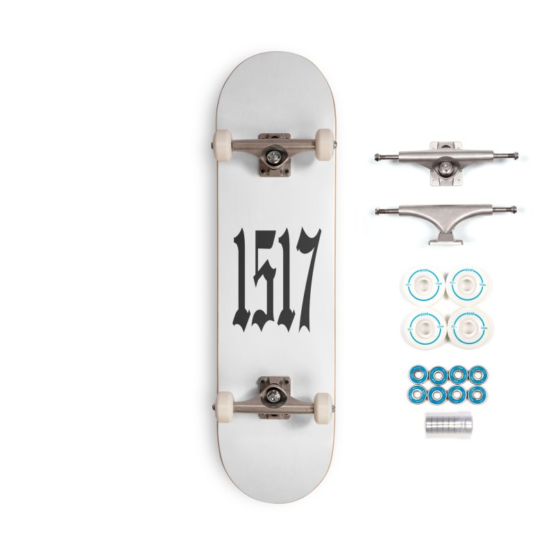 1517 (Black Numbers) Accessories Skateboard by JARED CRAFT's Artist Shop