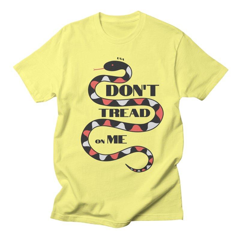 Gadsden (Black Snake) Men's T-Shirt by JARED CRAFT's Artist Shop