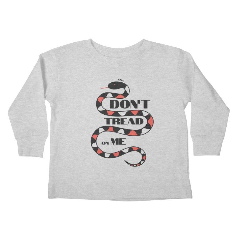 Gadsden (Black Snake) Kids Toddler Longsleeve T-Shirt by JARED CRAFT's Artist Shop