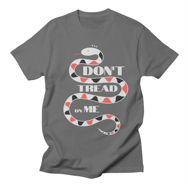 Gadsden (White Snake) Men's T-Shirt by JARED CRAFT's Artist Shop