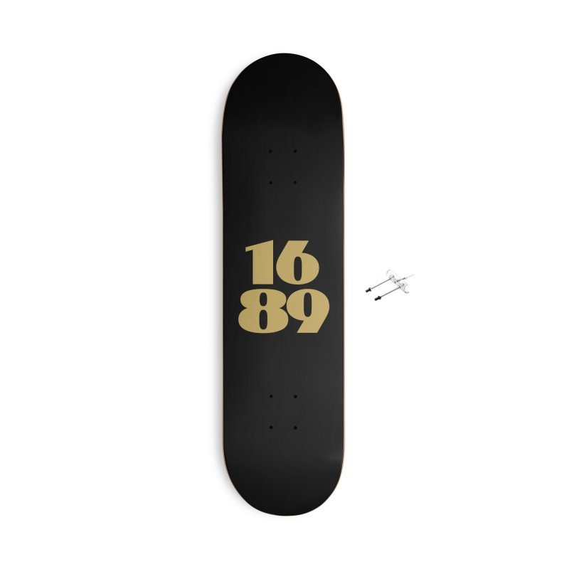 1689 Gold Accessories Skateboard by JARED CRAFT's Artist Shop