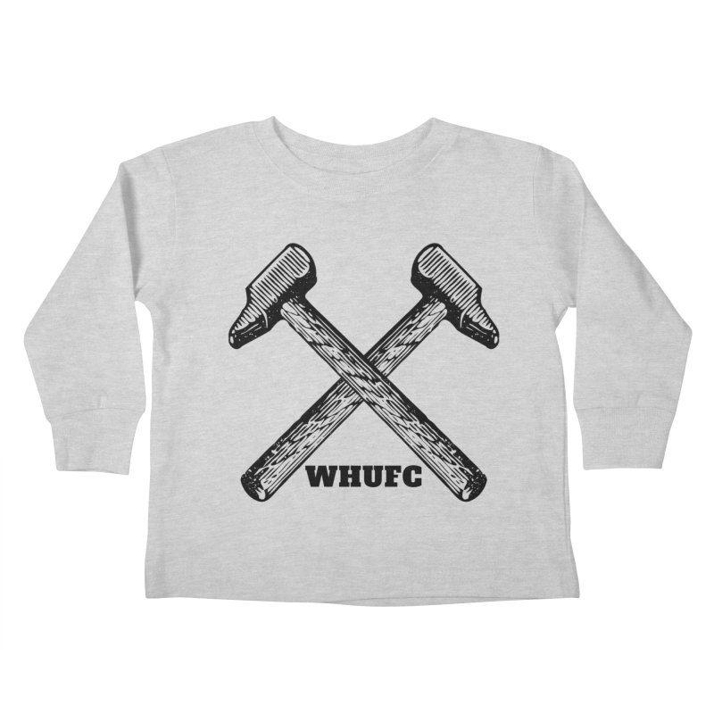 WHUFC Kids Toddler Longsleeve T-Shirt by JARED CRAFT's Artist Shop