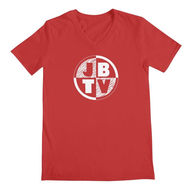 JBTV Circle Logo Men's V-Neck by JBTV's Artist Shop