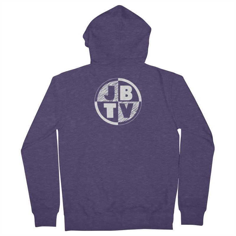 JBTV Circle Logo Men's French Terry Zip-Up Hoody by JBTV