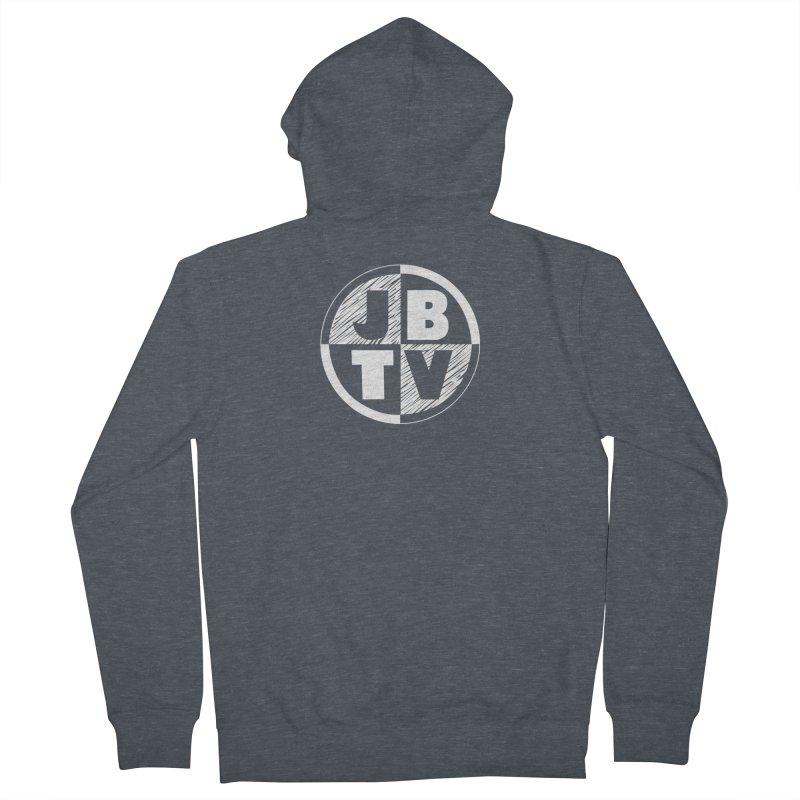 JBTV Circle Logo Men's French Terry Zip-Up Hoody by JBTV