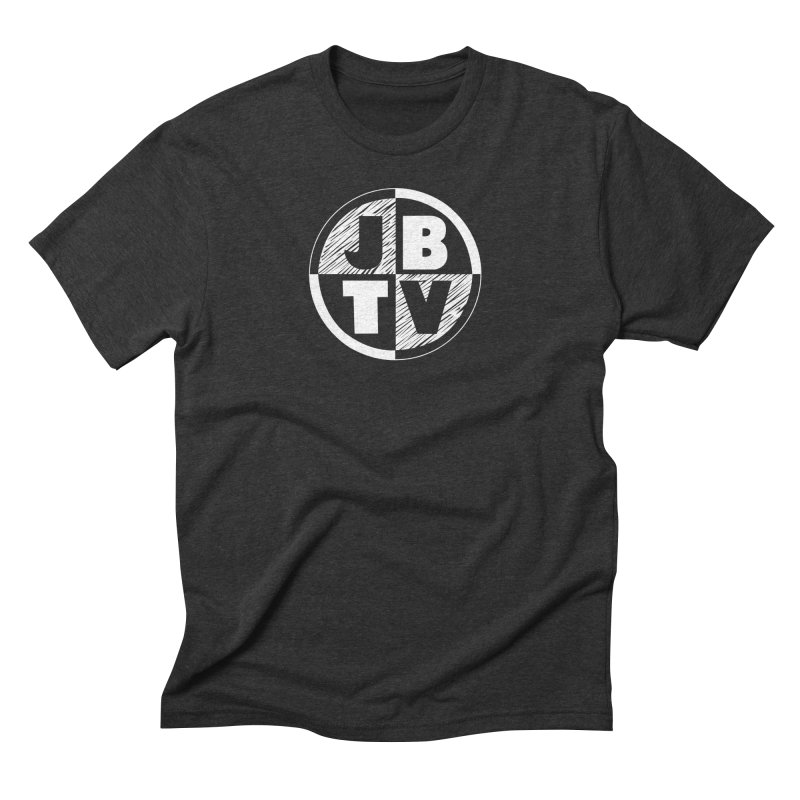 JBTV Circle Logo in Men's Triblend T-Shirt Heather Onyx by JBTV's Artist Shop