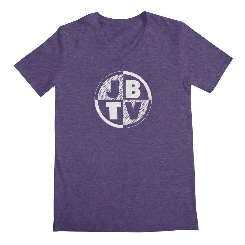 JBTV Circle Logo Men's Regular V-Neck by JBTV's Artist Shop