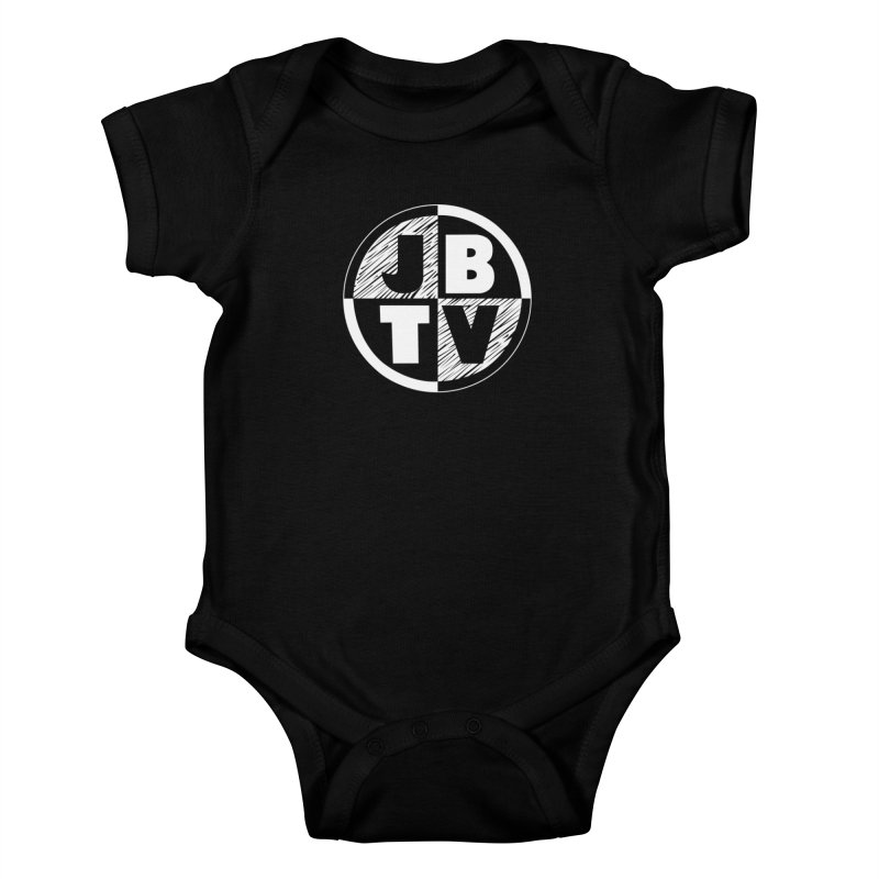 JBTV Circle Logo in Kids Baby Bodysuit Black by JBTV