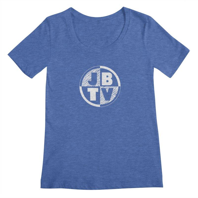 JBTV Circle Logo Women's Regular Scoop Neck by JBTV