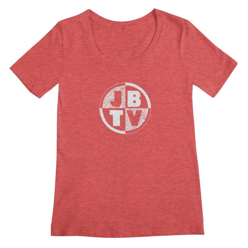 JBTV Circle Logo Women's Regular Scoop Neck by JBTV's Artist Shop