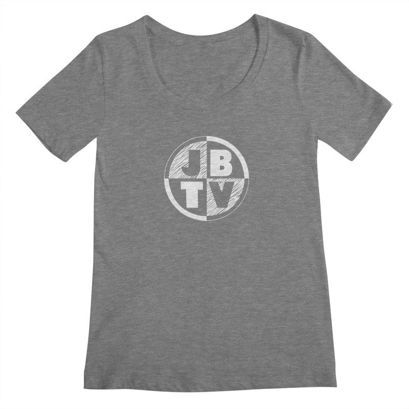 JBTV Circle Logo Women's Scoopneck by JBTV's Artist Shop