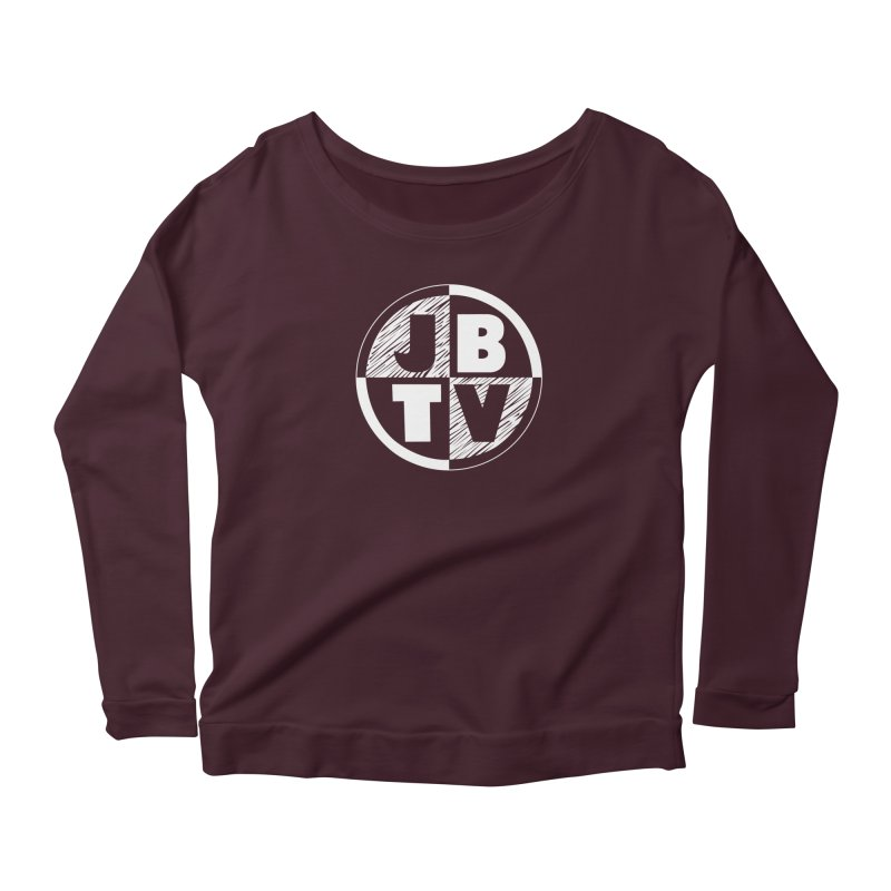 JBTV Circle Logo Women's Longsleeve Scoopneck  by JBTV's Artist Shop