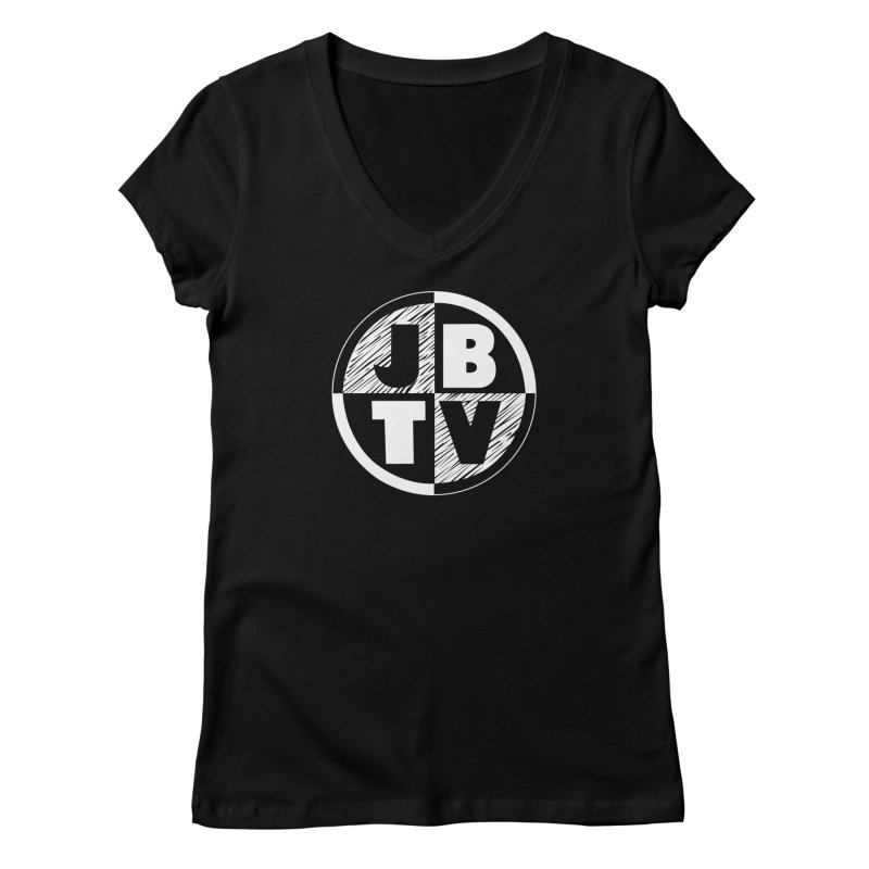 JBTV Circle Logo Women's Regular V-Neck by JBTV