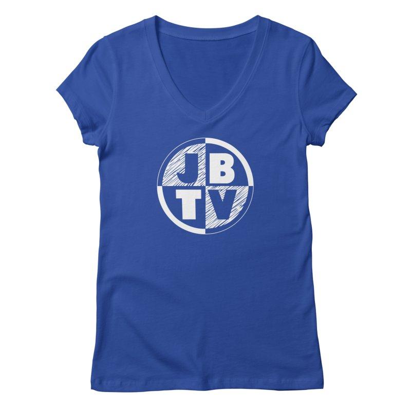 JBTV Circle Logo Women's Regular V-Neck by JBTV