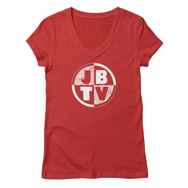 JBTV Circle Logo Women's Regular V-Neck by JBTV's Artist Shop