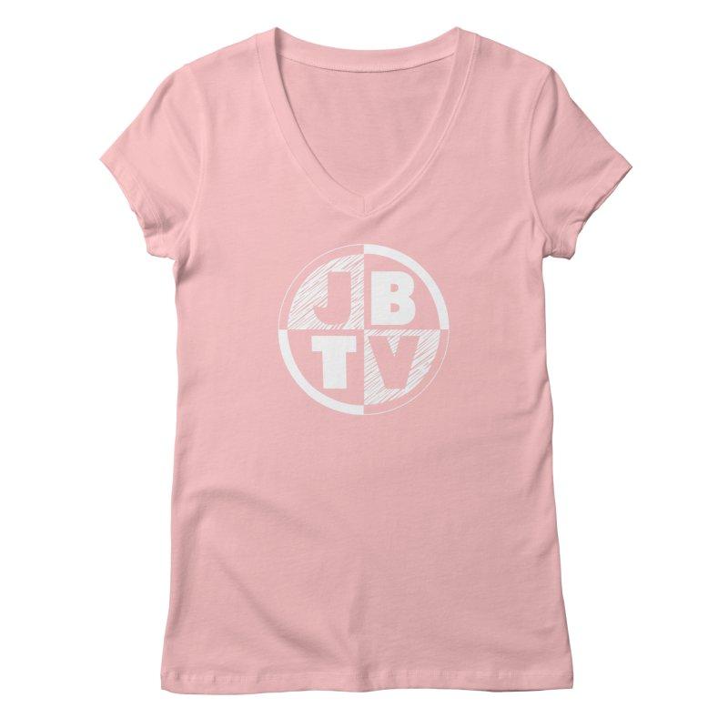 JBTV Circle Logo Women's V-Neck by JBTV's Artist Shop