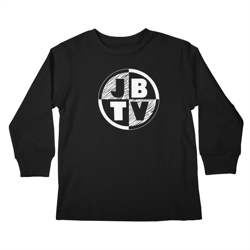 JBTV Circle Logo in Kids Longsleeve T-Shirt Black by JBTV