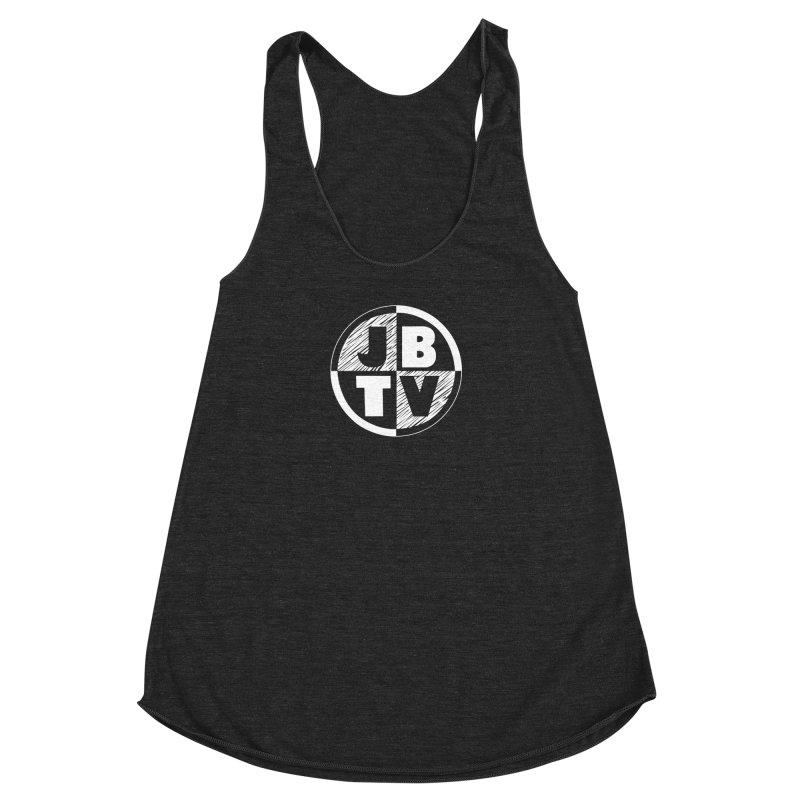 JBTV Circle Logo Women's Racerback Triblend Tank by JBTV's Artist Shop