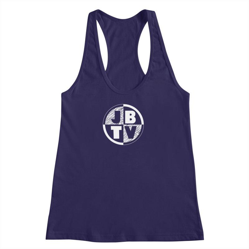 JBTV Circle Logo Women's Racerback Tank by JBTV's Artist Shop