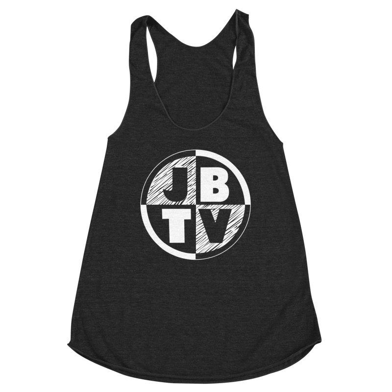 JBTV Circle Logo Women's Racerback Triblend Tank by JBTV