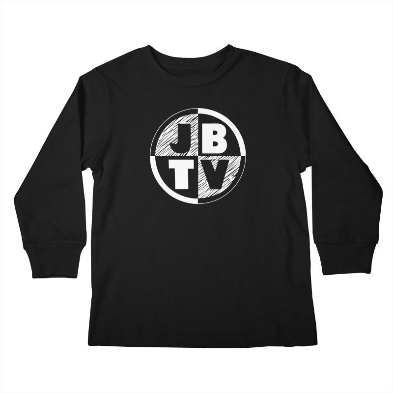 JBTV Circle Logo in Kids Longsleeve T-Shirt Black by JBTV