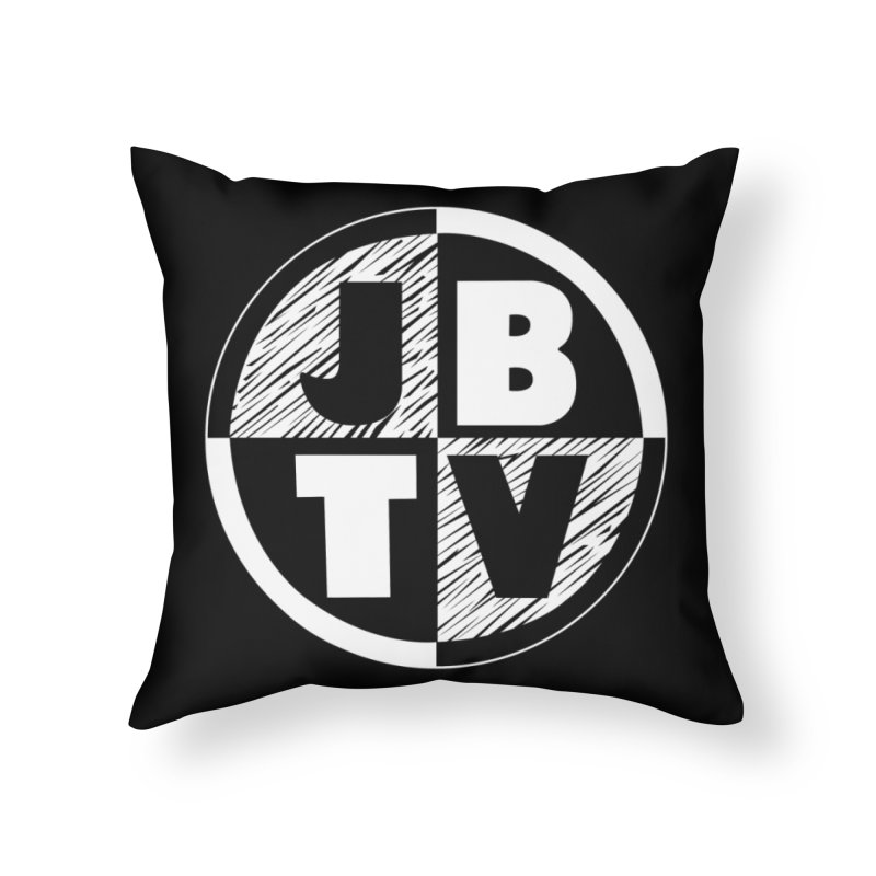JBTV Circle Logo Home Throw Pillow by JBTV's Artist Shop