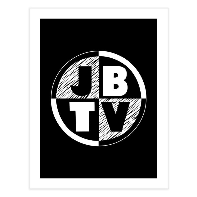 JBTV Circle Logo Home Fine Art Print by JBTV