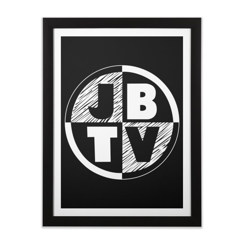 JBTV Circle Logo Home Framed Fine Art Print by JBTV