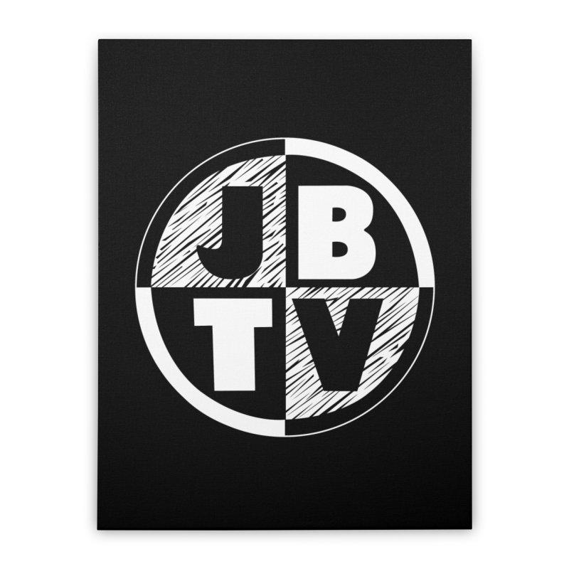 JBTV Circle Logo Home Stretched Canvas by JBTV's Artist Shop