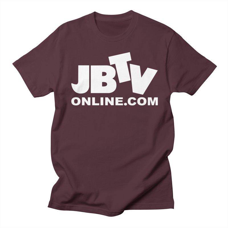 JBTV White Logo Men's T-Shirt by JBTV
