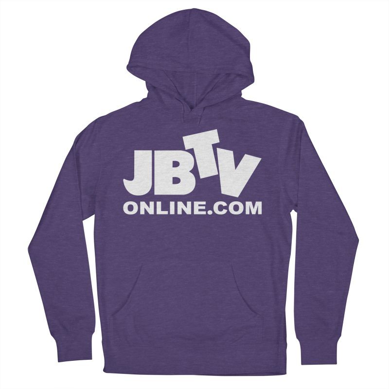 JBTV White Logo Women's French Terry Pullover Hoody by JBTV