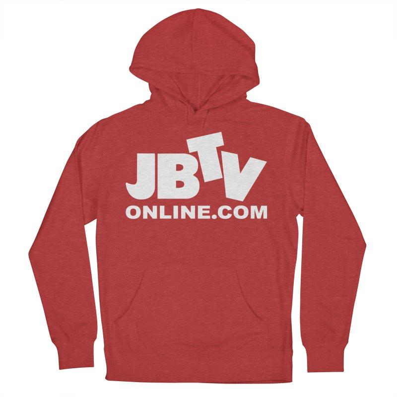 JBTV White Logo Women's French Terry Pullover Hoody by JBTV