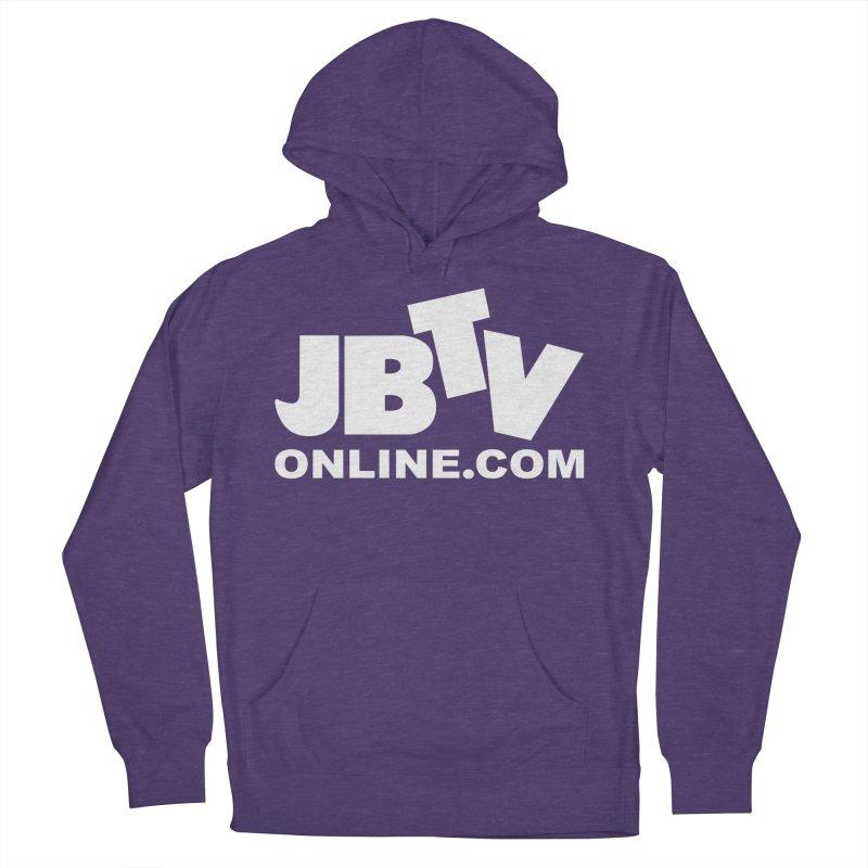 JBTV White Logo Men's French Terry Pullover Hoody by JBTV