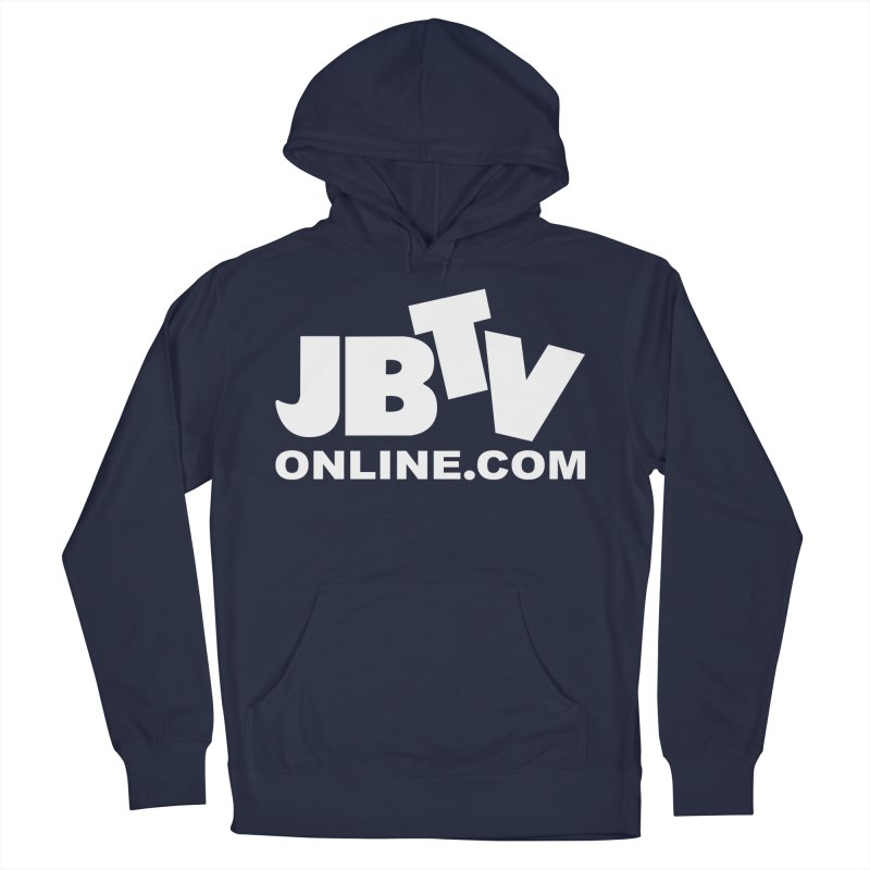 JBTV White Logo Men's French Terry Pullover Hoody by JBTV