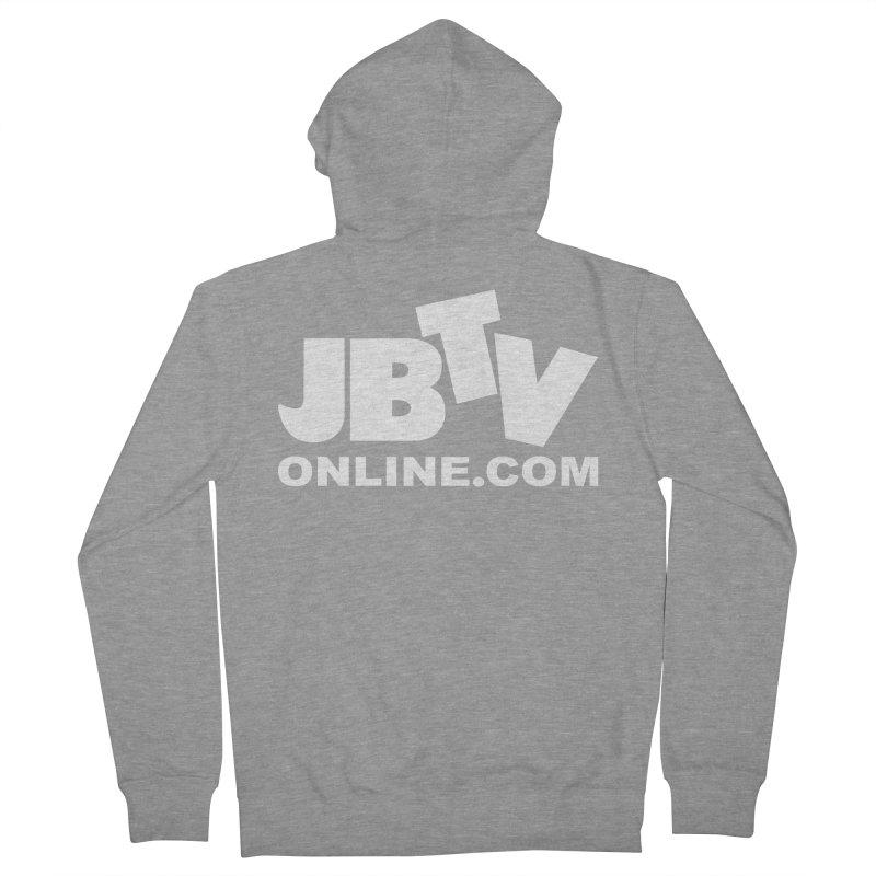 JBTV White Logo Women's Zip-Up Hoody by JBTV's Artist Shop