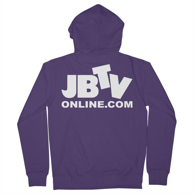 JBTV White Logo Women's French Terry Zip-Up Hoody by JBTV