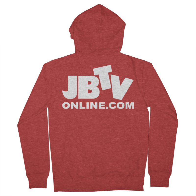 JBTV White Logo Men's Zip-Up Hoody by JBTV's Artist Shop